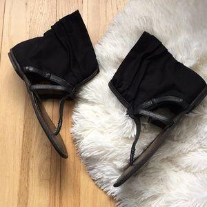 Baker's HUNTER fabric ankle sandals black size 7.5